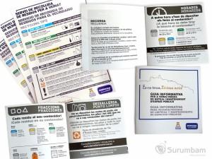 Valoriza, catálogo y adhesivos campaña
